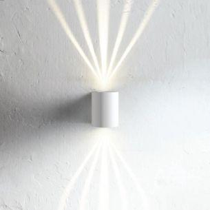 Up and Down - BEAM - LED-Wandleuchte für den Außenbereich, Lichtaustritt mit Schablonen variierbar  - IP 44 - unterschiedliche Oberflächen möglich