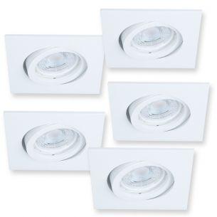 5er Set  Dimmbar Einbaustrahler Dalla  für die Decke -Weiß