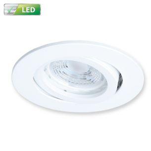 Weißer LED Einbaustrahler für die Decke 1 x GU10  5,8 Watt