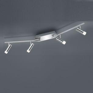 LED-Deckenleuchte Zidane - 4-flammig - Chrom 4x 4,5 Watt, 18,00 cm, 90,00 cm