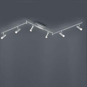 LED-Deckenleuchte Zidane verstellbar - Chrom - 6-flammig