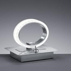 Moderne LED-Tischleuchte - Mit Schalter - Chrom - Acrylglas - Inklusive LED 1 x 5 Watt  450 Lumen 3000 Kelvin