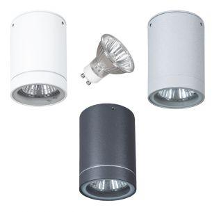 Außenleuchte - Downlight - Aluminium - 3 Farben - Inklusive Halogenleuchtmittel GU10 35 Watt