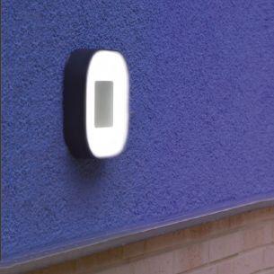 Eckige LED-Leuchte aus Aluminiumguss und Acrylglas für Wand oder Decke geeignet, IP54, Lichtfarbe warmweiß, 3000°K