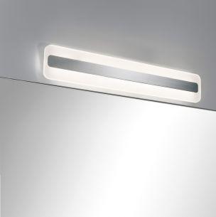 LED-Spiegelleuchte Alu und Acryl, IP44-Schutz, inklusive 9Watt  LED, 3000 K warmweiß