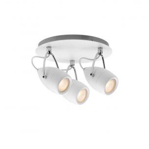 LED- Strahler Rondell 3 x 3,5W - IP44 Feuchtraum geeignet - 230V, Weiß/Chrom - Komplett-Leuchte, inklusive LED-Leuchtmittel