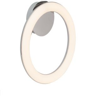LED-Leuchte für Wand oder Decke -  Ø 43cm - Metall - Chrom und Kunststoff, 1x 24Watt, 3000K warmweiß