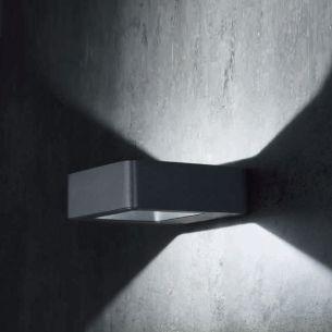 led au en wandleuchte edelstahl oder anthrazit wohnlicht. Black Bedroom Furniture Sets. Home Design Ideas
