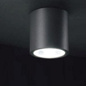 LED-Deckenaufbauleuchte rund oder eckig  - IP54 - Aluminium- Druckguss - LED 7 Watt - 3000K - Anthrazit oder Weiß