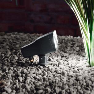 LED-Erdspieß-Strahler, IP 54 - Schwenkbar - Inklusive LED Leuchtmittel 5 Watt - 3000K