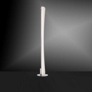 LED-Stehleuchte Chrom/Acrylglas - inklusive 39,2W LED - warmweißes Wohnlicht, 3000K, 2460Lumen