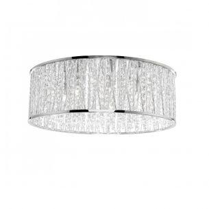 LED-Kristalldeckenleuchte glänzend in Chrom, inklusive wechselbarer G9 LED