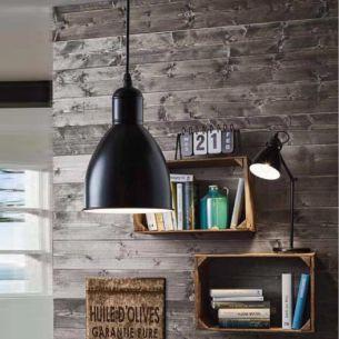 Pendelleuchte im Trend-Design - Industrial-Chic - Ø 15,5cm -  in Kupfer oder Schwarz lieferbar