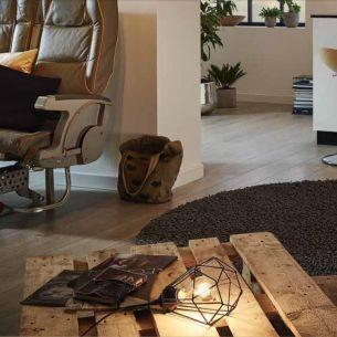 Liegende Tischleuchte - geometrisches Design, Ø 17,5cm - 1flammig - in kupferfarbig oder Schwarz