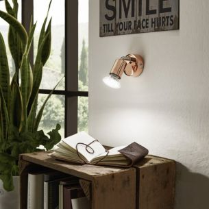 LED-Wandspot in kupferfarbig, schwenkbar, inklusive 3Watt LED-Leuchtmittel, 200lm, 3000K warmweiß