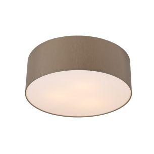 pendelleuchte in nickel matt mit ovalem stoffschirm in grau 1m l nge wohnlicht. Black Bedroom Furniture Sets. Home Design Ideas