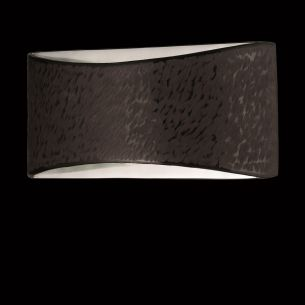 Hochwertige LED-Wandleuchte - SHINE ALU 2-flammig - Decor-Blende in dunkelbraun