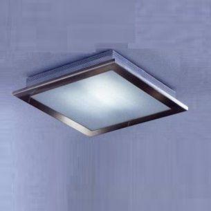 Deckenleuchte in nickel-matt mit satiniertem Glas, 1x150Watt- inkl. Leuchtmittel