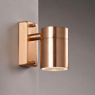 Aussenwandleuchte für tolle Lichteffekte in Kupfer, Edelstahl oder in schwarz