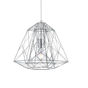 Pendelleuchte Geometric Cage aus Metall im Industrie Design in 3 Oberflächen