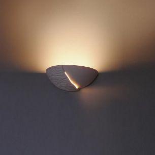 Leuchte Dafni mit Relief Gips weiß anstreichbar