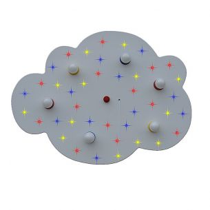 Sternen-Wolke XXL mit zuschaltbaren farbigen LED- Sternenhimmel