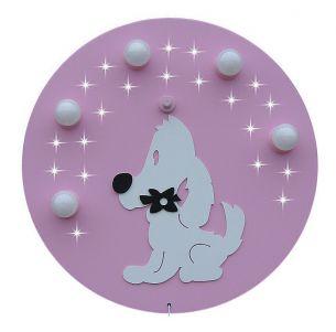 Sternenhimmel Deckenlampe WUFFI in rosa/weiß