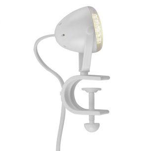 LED-Klemmleuchte aus Kunststoff in weiß, 2W  LED  4000K