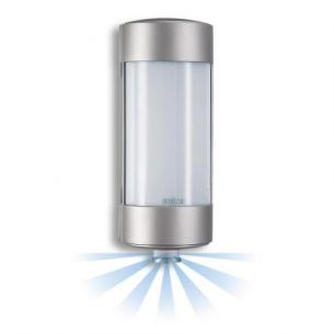 Wandleuchte aus hochwertigem Aluminium mit Bewegungssensor - stahlfarben
