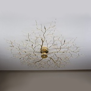 Moderne Deckenleuchte Tree Lamp in messing poliert