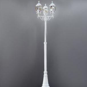 Nostalgischer Kandelaber - 3-flammig - weiß - Höhe 240cm