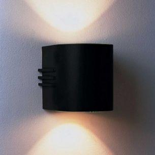 Moderner Wandstrahler aus Aluguss in schwarz
