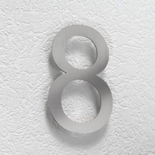 Hausnummer 8 aus Edelstahl