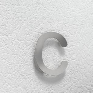 Hausnummer c aus Edelstahl, klein