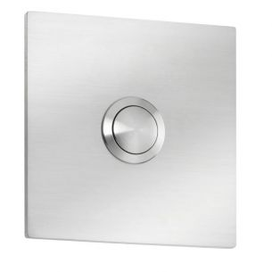 Klingelknopf in quadratischer Ausführung aus Edelstahl ohne Beschriftung