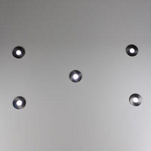 LED Einbaustrahler 5-er Set aus Edelstahl für Aussen und Innen