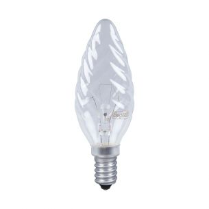 Glühlampe Kerzenform C35 E14 Kerze gedreht klar 60 Watt 1x 60 Watt, 60 Watt, 660,0 Lumen
