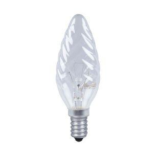 Glühlampe C35, E14 Kerze gedreht klar 25 Watt 1x 25 Watt, 25 Watt, 210,0 Lumen