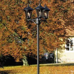 3-flammiger Laternenmast im klassischen Stil in 3 Farben