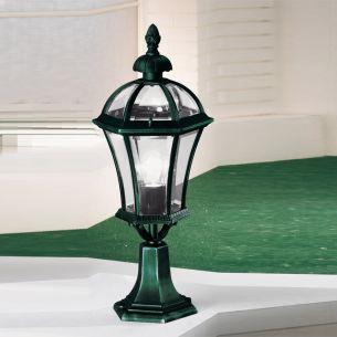 Sockelleuchte Westminster von KOLARZ in antik-grün 65cm