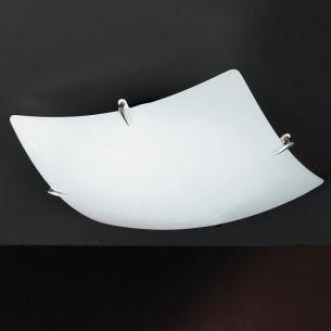 Deckenleuchte mit weißem Opalglas, Energie sparend, 40 x 40 cm