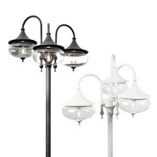 3-flammiger Laternenmast im klassischen Stil in 2 Farben