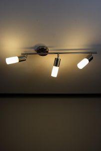 Energiesparender 3-flammiger Deckenstrahler -- inkl. Leuchtmittel