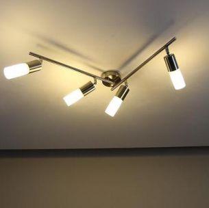 Energiesparende 4- flammige Deckenleuchte -- inkl. Leuchtmittel