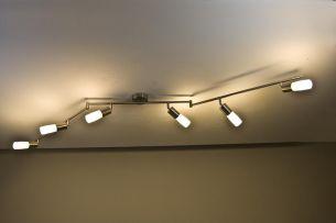 Energiesparende 6- flammige Deckenleuchte -- inkl. Leuchtmittel