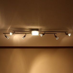 7-flammiger Deckenstrahler mit Downlight - inkl. Leuchtmittel