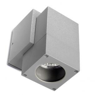 Quadratische Wandleuchte aus Aluminium, IP44 inklusive Leuchtmittel