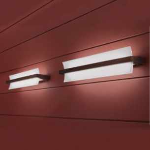 Schicke Wandleuchte inklusive Energiesparleuchtmittel 55W - in Weiß oder Wengè wählbar