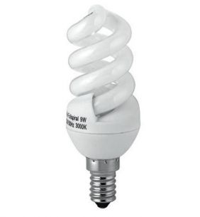 Energiesparlampe E14  9W Spiralenform 3000K-warmweiß