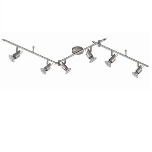 Strahlersystem aus Stahl mit 6 flexibel einstellbaren Strahler  und 2 schwenkbaren Auslegern